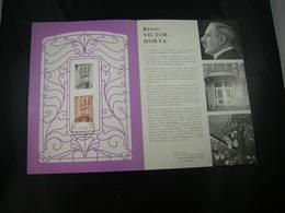 "BELG.1962 1204 FDC Folder Fr.: "" Victor Horta  "" - FDC"