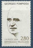 """FR YT 2875 """" Georges Pompidou """" 1994 Neuf** - France"""
