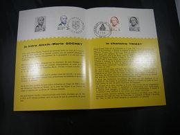 """BELG.1962 1214-1215 FDC Folder Fr.: """" Gochet & Triest  """" - FDC"""