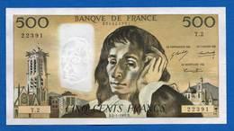 500 Fr  Du4/1/1968 - 500 F 1968-1993 ''Pascal''