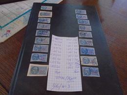 RARE !! 18 TP FISCAUX (Meme Série)Tous DIFFERENTS  Dont Le RARE N°167 !!!!Seul = 35,ooeur  *** 5 Photos - Fiscale Zegels