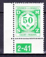 Boheme Et Moravie 1941 Mi D 3 (Yv TS 3), (MNH)** - Bohemen En Moravïe