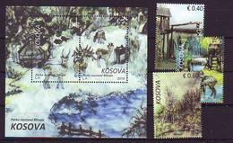 Kosovo 2019 Y Nature Flora Fauna National Park Blinaja Series + Block MNH - Kosovo