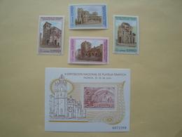 1990  Espagne  Yv 2704/7 + BF43  ** MNH  Cote 2.50 € Michel 2968/71 + B37 Scott 2638/41 SG 3088/1 + 3084 - 1981-90 Nuovi