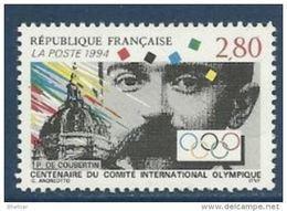 """FR YT 2889 """" Centenaire Du CIO """" 1994 Neuf** - France"""