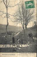 Plombières Les Bains  Le Ruisseau De La Meule  Pont En Bois CPA 1911 - Plombieres Les Bains