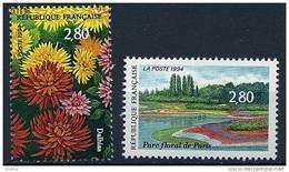 """FR YT 2909 & 2910  """" Salon Du Timbre, Parc Floral """" 1994 Neuf** - France"""