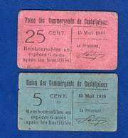 Casteljaloux  47   2 Bons  Du  15/5/1916 - Bons & Nécessité