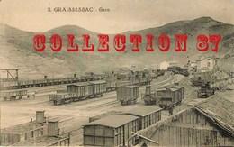 ACHAT DIRECT < GARE☺♦♦ TRAIN à La GARE De GRAISSESSAC - BAHN  BAHNHOF - Gares - Avec Trains