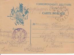 CP D'un Prisonnier De Guerre Allemand à Montargis Obl CHALETTE Du 1.1.19 Adressée à Amberg - Marcofilia (sobres)