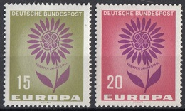 Germania 1964 Sc. 897-898 Europa CEPT Full Set MNH Germany - Europa-CEPT
