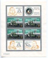 1971-ROMANIA-APOLLO 15- RARE S.S. IMPERF.- 1  VAL.  -M.N.H.-LUXE !!- - Blocs-feuillets