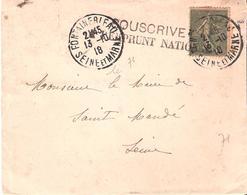 Seine Et Marne :- FONTAINEBLEAU Dateur A4 + Cachet SOUSCRIVEZ A L'EMPRUNT NATIONAL - Postmark Collection (Covers)