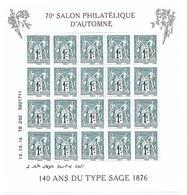 F5094  Feuillet 140 Ans Du Type Sage De 1876 N++ - Mint/Hinged