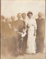 Photos - Anciennes : Militaire : Mariage D'un Chasseur Alpin ( Format 11,8cm X 9cm ) - Circa 1900 - Guerre, Militaire