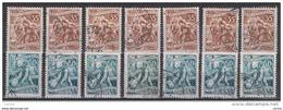 JUGOSLAVIA:  1952/53  MESTIERI  -  2  VAL. US. -  RIPETUTI  7  VOLTE  -  YV/TELL. 596 + 597 - 1945-1992 Repubblica Socialista Federale Di Jugoslavia
