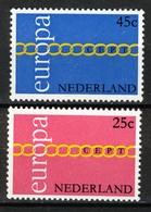 Nederland Pay Bas Olanda Netherlands 1971, Europa CEPT **, MNH - Periode 1949-1980 (Juliana)