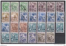 JUGOSLAVIA:  1952/53  MESTIERI  -  LOTTO  27  VAL. US. -  YV/TELL. 591//599 - Usati