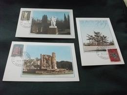 MAXIMUM  3 Cartoline 109/11 MONUMENTO ALLA RESISTENZA CUNEO NAPOLI E DELLE FOSSE ARDEATINE ROMA 30°RESISTENZA ITALIANA - Patriottiche