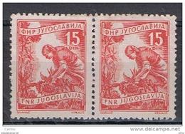 JUGOSLAVIA:  1952/53  MESTIERI  -  15 D. ROSSO-CARMINIO  COPPIA  S.G. -  YV/TELL. 592 - 1945-1992 Repubblica Socialista Federale Di Jugoslavia