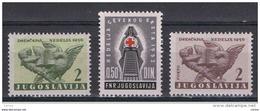 JUGOSLAVIA:  1952/53  BENEFICENZA  -  3  VAL. N. -  YV/TELL. 15//26 - Beneficenza