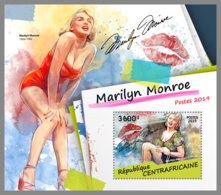 CENTRAL AFRICA 2019 Marilyn Monroe Cinema Kino Film S/S - OFFICIAL ISSUE - DH1915 - Donne Celebri