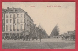 Tournai - Hôtel De Belle-Vue ... Plusieurs Calèches - 1911 ( Voir Verso ) - Doornik