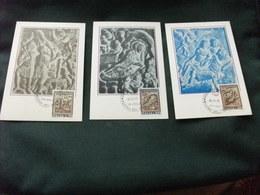 MAXIMUM  3 Cartoline 136/38 INTERNO CHIESA EGLISE DI S. MARIA MAGGIORE ALATRI PANNELLI CON RE MAGI  NATIVITA'  PASTORI - Sculture