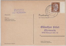 Deutsches Reich - Pumperle über Kuschwarda Landpoststempel Drucksache 1944 - Sudetenland
