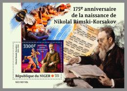 NIGER 2019 MNH Nikolai Rimsky-Korsakov Composer Komponist Compositeur S/S - OFFICIAL ISSUE - DH1915 - Musik
