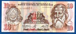 Honduras -  10 Lempiras 2001   - état  TTB+ - Honduras