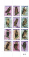 SURINAME 2019 MNH Owls Eulen Hiboux Uilen 12v - OFFICIAL ISSUE - DH1915 - Eulenvögel