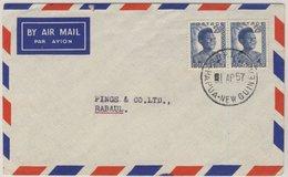 Papua New Guinea - 2x2 P. Freimarke Luftpostbrief Sohano - Rabaul 1957 - Papua-Neuguinea