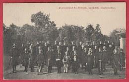 Wiers ( Callenelle ) - Pensionnat St.-Joseph ... Groupe D'élèves Se Préparant à Jouer Au Croquet - 1908 ( Voir Verso ) - Péruwelz