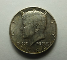 USA 1/2 Dollar 1964 D Silver Varnished - Federal Issues