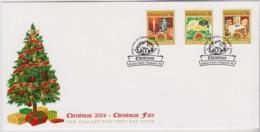 New Zealand 2004 Christmas Fare - Self-adhesives FDC - FDC