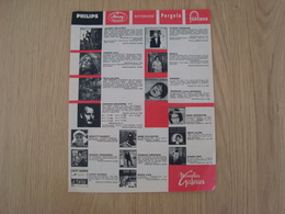 DOCUMENT PUBLICITAIRE DISQUE 33 T - Zubehör & Versandtaschen