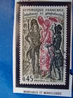 """1970-79-timbre Oblitéré N°  1729   """"  Incroyables Et Merveilleuses     """"     0.25 - France"""