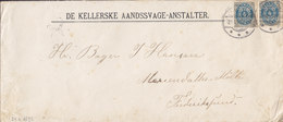 Denmark DE KELLERSKE AANDSSVAGE-ANSTALTER, GLOSTRUP? 24.6.1897 Cover Brief FREDERIKSSUND (Arr. Cds.) 2x 4 Øre - Covers & Documents