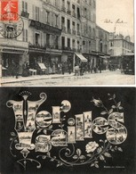 VERSAILLES ( 2 Cpa ) - La Rue Saint Pierre - Versailles
