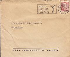 Denmark FYNS VENSTREBLAD (Newspaper) Slogan 'Mental-hygiejnen - En Folkesag' ODENSE 1959 Cover Brief 20 Øre Fr. IX. - Dänemark