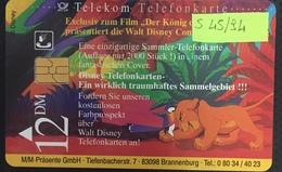 Paco \ GERMANIA \ Deutsche Telecom \ S 45/94 \ Disney's Der König Der Löwen 1 \ Usata - Germania