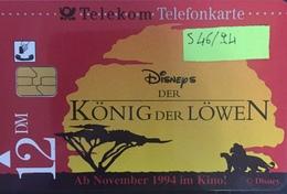 Paco \ GERMANIA \ Deutsche Telecom \ S 46/94 \ Disney's Der König Der Löwen 2 \ Usata - Germania