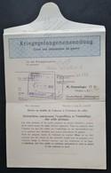Formulaire ENVOI DE COLIS BLEU STALAG IV G Oschatz Cachet Mairie De CAEN Septembre 1942 Prisonnier De Guerre - Marcophilie (Lettres)