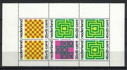 Nederland Pay Bas Olanda Netherlands 1973, Kinderzegels Child Welfare Games Chess Domino **, MNH, S/S - Periode 1949-1980 (Juliana)