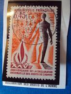 """1970-79-timbre Oblitéré N°   1781  """"  Déclaration Droits De L'homme     """"     0.30 - France"""