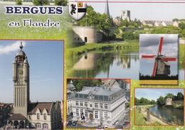 France Bergues En Flandre Various Views Postcard Used Good Condition - Bergues