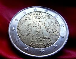 "France 2 Euro 2013 ""Franco-German Friendship, Elysee Treaty  CIRCULATED COIN - Frankreich"