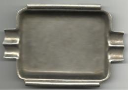 """Ashtray, Nickel Silver, Marked """"P.V. Alpaka"""", 115 X 81 X 7 Mm. - Metall"""