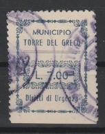 Torre Del Greco. Marca Municipale Diritti Di Urgenza L. 7.00. - Other